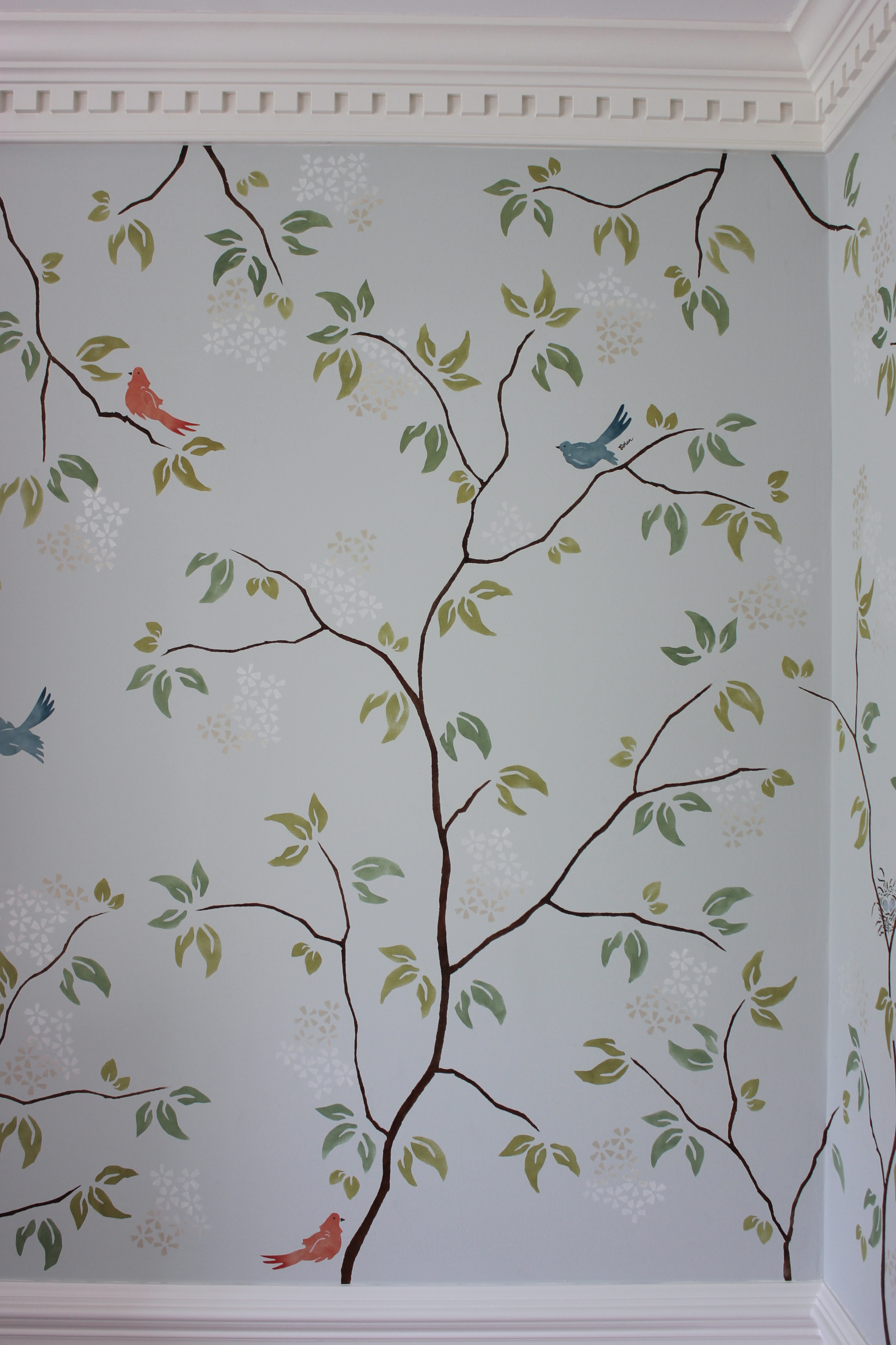 Modern chinoiserie lenehan studios for Designer wallpaper sale