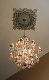Entry Chandelier with Custom Medallion