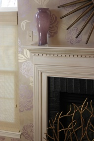 feature wall and glazed fireplace