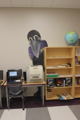 Raven's Read Computer Room, Charles Carroll Barrister Elementary School, with Nancy Pascale, and Ravens Foundation