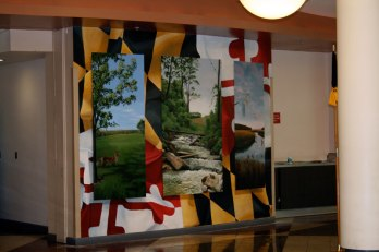 MD State Police Dept of Corrections Training Facility Mural