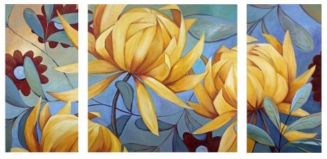 """Three Chrysanthemums"" Custom Art"