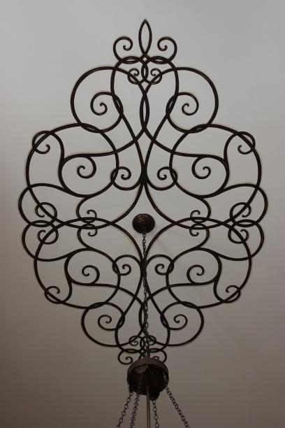 trompe l'oeil iron ceiling medallion