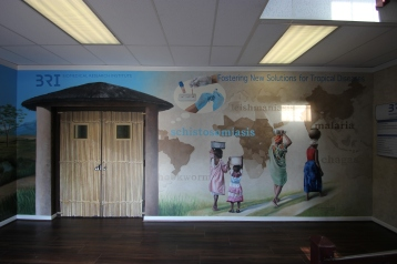 BRI Mural, under the direction of Stacey Olson Sachs