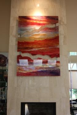 Custom Glass Art Piece - Art Installation