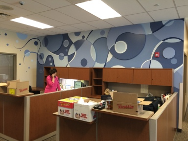 Front office interactive mural
