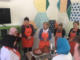 Cooking lessons at the Amal Center