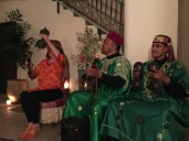 Traditional Gnawa Band, with Diane on the Qraqabas
