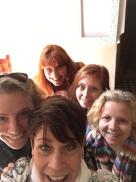 Jutz, Helen, Diane, Cathy, and me.